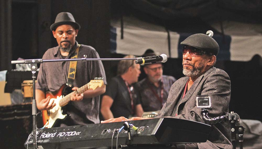 Guitarist Bobby Bryan with Henry Butler on keyboard. Photo by Joe Daniels/Carolina Peacemaker