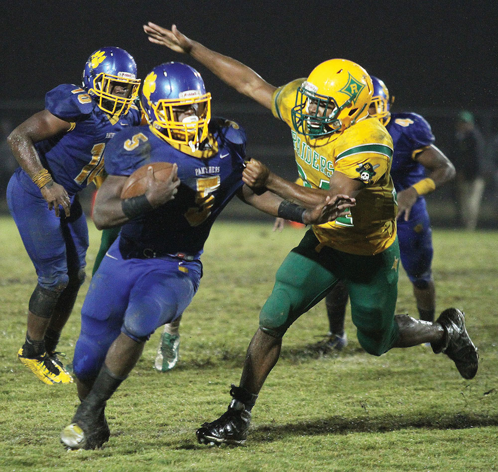 Dudley's Connell Young ran for 60 yards in the loss. Photo by Joe Daniels