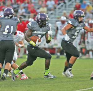 Northern's C.J. Freeman finished with 32 carries for 204 yards and two touchdowns against Fayetteville Terry Sanford. Photo by Joe Daniels/ Carolina Peacemaker
