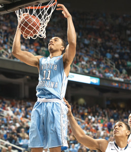 Brice Johnson had 25 points and 12 rebounds to lead the UNC Tar Heels to an 88-74 victory over Notre Dame. The Heels will face -- in the Final Four.  Photo by Kevin Dorsey